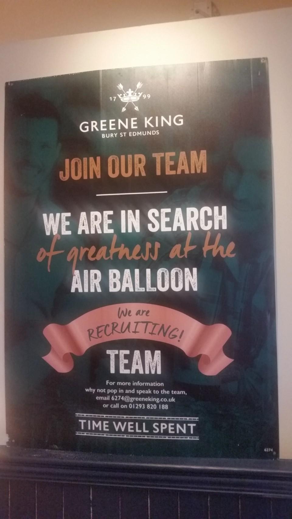E vorba de Air Balloon din Horley Surrey UK