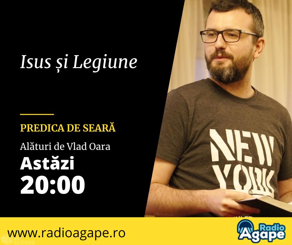 Nu ratați! Astăzi începând cu ora 20:00 PREDICA DE SEARĂ alături de pastorul Vlad Oara. Mesajul din seara aceasta este intitulat: Isus și Legiune. Dragi ascultători vă așteptăm alături de noi și vă dorim audiție plăcută!Cu prețuire, Echipa Radio AgapeWeb: www.radioagape.com Telegram: https://t.me/radioagape